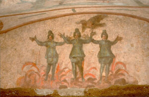 Three Youths in Furnace - Dura Europos Synagogue