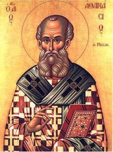 Athanasius the Great in bishop's vestments