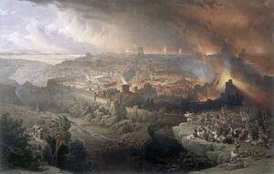 Fall of Jerusalem AD 70 - painting by David Roberts (1850)
