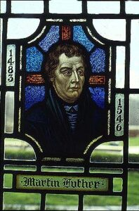 Stained Glass of Martin Luther