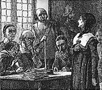 Anne Hutchinson on trial