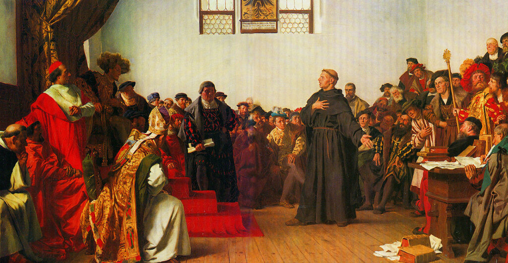 Luther Invoking Sola Scriptura at the Diet of Wurms