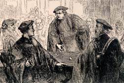 Zwingli and Luther at the Marburg Colloquy - 1529