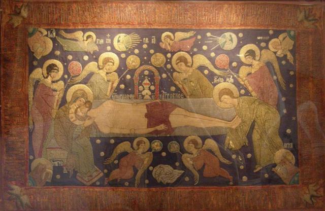 Embroidered altar cloth - Yaroslav 16th century