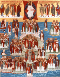 Icon - All Saints of the British Isles