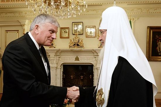 Rev. Franklin Graham Meets with Patriarch Kyril of Moscow