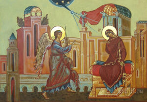 The Word of God Became Flesh - Icon of the Annunciation. Source