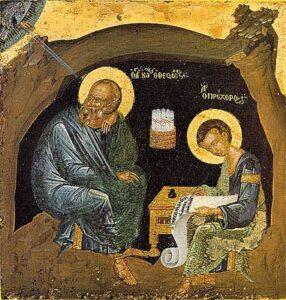 Apostle John on Patmos