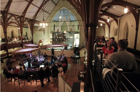 Post-Christian America -- Methodist Church Converted into Restaurant